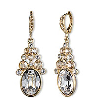 Givenchy® Goldtone/Crystal Drop Earrings