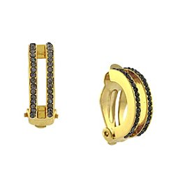 Vince Camuto™ Goldtone Half-Hoop Clip Earrings