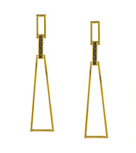 Vince Camuto™ Goldtone Linear Micro Pave Drop Earrings
