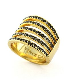 Vince Camuto™ Goldtone Pave Multi-Band Wide Ring