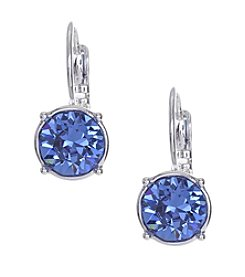 Nine West® Blue Round Drop Earrings