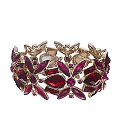 Anne Klein® Goldtone Siam Stretch Bracelet