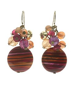 Ruby Rd.® Hook Earrings with Small Cluster and Disc Beading