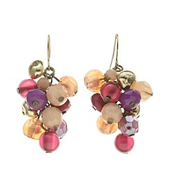 Ruby Rd.® Hook Earrings with Cluster Drop Beading