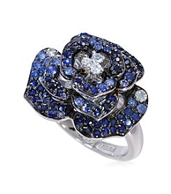 Effy® Shaded Sapphire Flower Ring in Sterling Silver