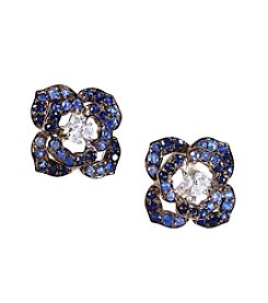 Effy® Shaded Sapphire Flower Earrings in Sterling Silver