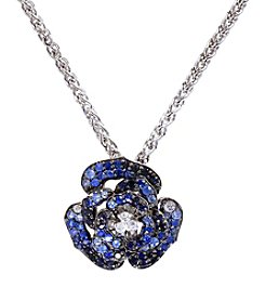 Effy® Shaded Sapphire Flower Pendant in Sterling Silver