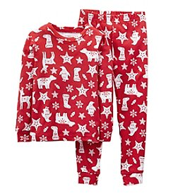 Carter's® Boys' 12M-4T 2-Piece Christmas Print Pajama Set