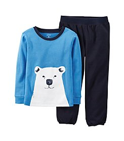 Carter's® Boys' 12M-7 2-Piece Polar Bear Pajama Set