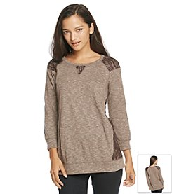 Chance or Fate® Lace Inset Tunic *