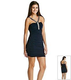 Trixxi® Rhinestone Embellished Fitted Dress