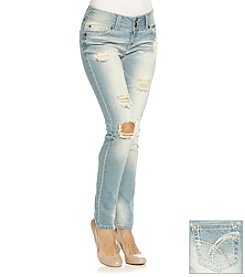 Wallflower® Destructed Skinny Jeans