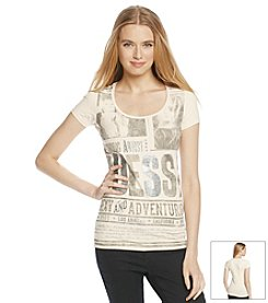 GUESS Short Sleeve Iconic Nash Poster Tee
