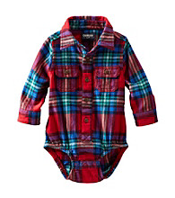 OshKosh B'Gosh® Baby Boys Long Sleeve Plaid Woven Bodysuit