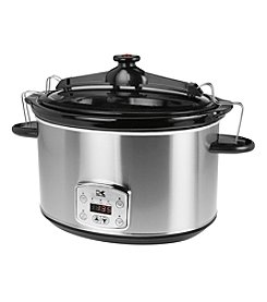 Kalorik Stainless Steel 8-Qt. Digital Slow Cooker with Locking Lid