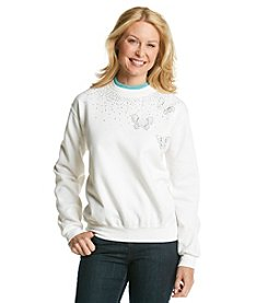 Morning Sun® Butterfly Brooches Sweatshirt