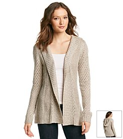 Carolyn Taylor Solid Hooded Cardigan