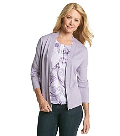 Alfred Dunner® A Fine Romance Solid Layered Look Sweater