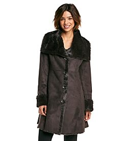 Jones New York® Oversized Wing Collar Walker Coat