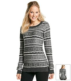 Ruff Hewn Reverse Fairisle High Low Sweater