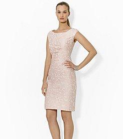 Lauren Ralph Lauren® Cap-Sleeved Jacquard Dress
