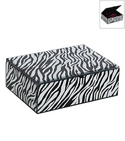 Mele & Co. Sierra Glass Jewelry Box with Zebra Design