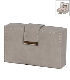 Mele & Co. Joni Travel Jewelry Case in Faux Leather in Sand