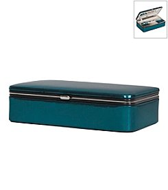 Mele & Co. Devon Metallic Fabric Jewelry Box in Blue