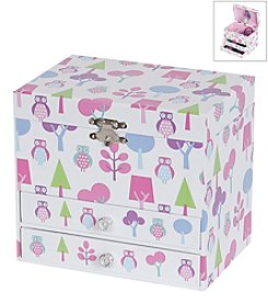 Mele & Co. Macey Girl's Musical Ballerina Jewelry Box with Owl Pattern