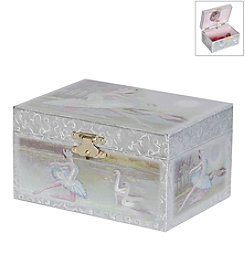 Mele & Co. Martina Girl's Musical Ballerina Jewelry Box in Pearl