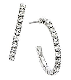 OroClone 20mm J Hoop Crystal Earrings
