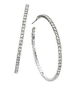 OroClone 45mm J Hoop Crystal Earrings