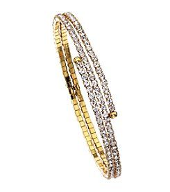 OroClone Crystal 2 Row Flex Bangle
