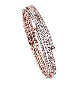 OroClone Crystal 3 Row Flex Bangle