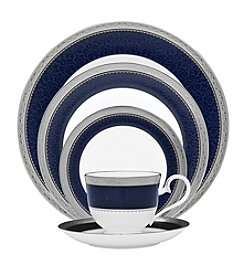 Noritake Odessa Cobalt Platinum China Collection