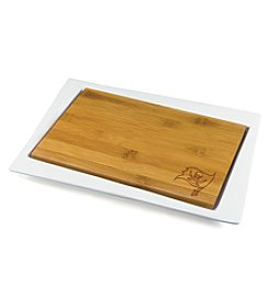 NFL® Tampa Bay Buccaneers Enigma Bamboo Cheese Board Set