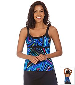 Caribbean Joe® Cirque Du CJ Framed Peasant Tankini Top