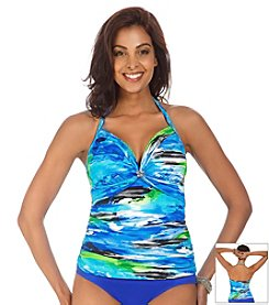 Caribbean Joe® Tropical Hideaway Alyson Halter Tankini Top