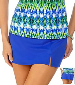 Caribbean Joe Solid Side Slit Skirt
