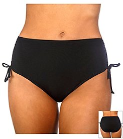 Caribbean Joe® Solid Adjustable Swim Brief