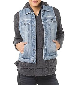 Silver Jeans Co. Denim Puffer Vest