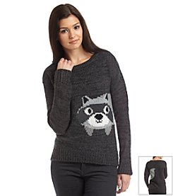 Jolt® Double Sided Raccoon Sweater