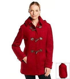 Calvin Klein Hooded Toggle Wool Coat