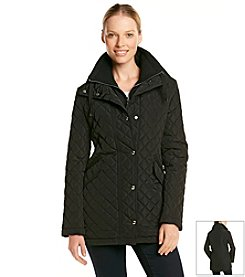 Calvin Klein Front Snap Quilted Coat