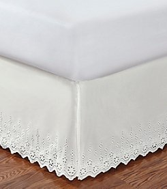 LivingQuarters Eyelet Bed Skirt