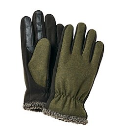 Isotoner® Signature Men's SmarTouch Wool Gloves With Berber Spill