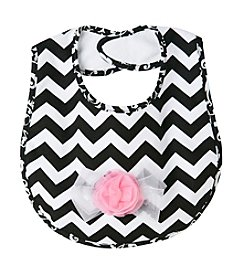 Cuddle Bear® Chevron Stripe Bib