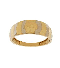10K Gold Hammered Band Ring
