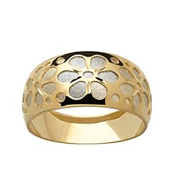 14K Gold Cut-Out Flower Design Ring