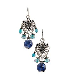 Ruby Rd.® Teal Small Fluted Fringe Drop Earrings